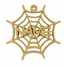 Laser Cut 3D Personalised Hanging Spider Web Decoration