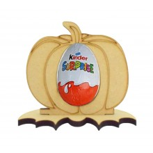 6mm Pumpkin Kinder Egg Holder on a Bat Shape Stand