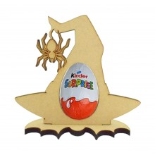 6mm Witches Hat Kinder Egg Holder on a Bat Shape Stand