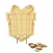 Laser Cut Childrens Present Christmas Countdown Budget Drop Box - 20mm Plain Tokens