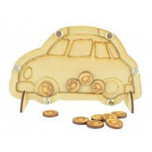 Laser Cut Car Childrens Budget Reward Chart Drop Box - Smiley Face Tokens