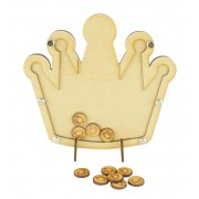 Laser Cut Princess Crown Childrens Budget Reward Chart Drop Box - Smiley Face Tokens