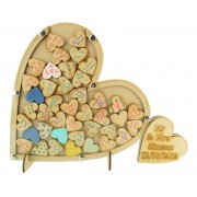 Laser Cut Budget Single Heart with Small Heart Wedding Drop Box with Heart Tokens