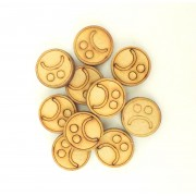 Laser Cut 20mm Sad Face Tokens - Pack of 15