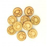 Laser Cut 20mm Smiley Face Tokens - Pack of 15
