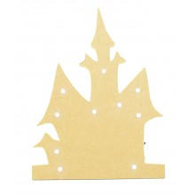 18mm Freestanding MDF Halloween Budget Light - Haunted House Shape