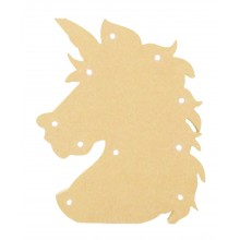 18mm Freestanding MDF Budget Light - Unicorn Head Shape