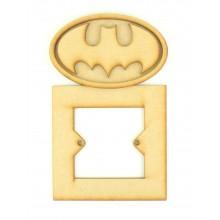Laser Cut Batman logo 3d Superhero Light Switch Surround