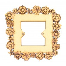 Laser Cut Detailed Flower Frame Light Switch Surround