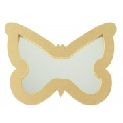 18mm Freestanding MDF Butterfly Shape Mirror - Size Options