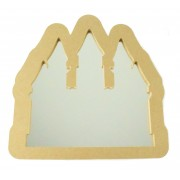 18mm Freestanding MDF Princess Castle Shape Mirror - Size Options