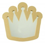 18mm MDF Princess Crown Mirror Shape - Size Options