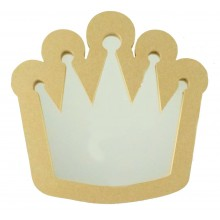 18mm MDF Princess Crown Mirror Shape - Size Options