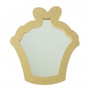 18mm MDF Cupcake Shape Mirror - Size Options