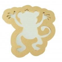 18mm MDF Cheeky Monkey Mirror Shape - Size Options