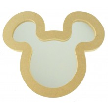18mm MDF Mouse Head Mirror Shape - Size Options