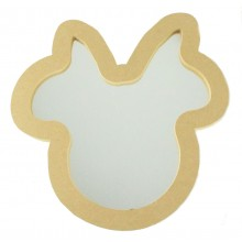 18mm MDF Mouse Head with Bow Mirror Shape - Size Options