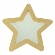 18mm Freestanding MDF Star Shape Mirror - Size Options