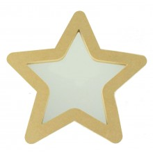 18mm Freestanding MDF Star Shape Mirror - Size Options