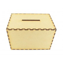 Laser cut Plain Money Box