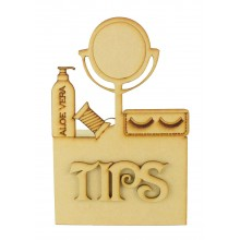 Laser Cut Beautician 'Tips' Money Box