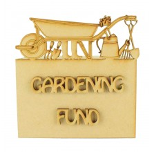 Laser cut 'Gardening Fund' Money Box
