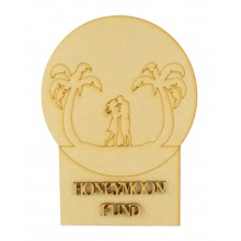 Laser Cut 'Honeymoon Fund' Money Box