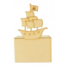 Laser Cut Pirate Ship Money Box