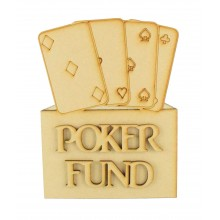 Laser Cut 'Poker Fund' Money Box