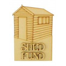 Laser Cut 'Shed Fund' Money Box