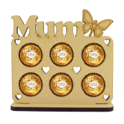 6mm Personalised Name with Butterfly Plaque Ferrero Rocher Holder on a Stand