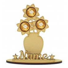 6mm Flower In Vase Shape Ferrero Rocher or Lindt Chocolate Ball Holder on a Stand - Stand Options