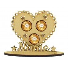 6mm Fancy Heart Shape Ferrero Rocher or Lindt Chocolate Ball Holder on a Stand - Stand Options