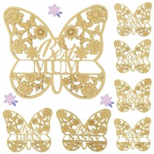 Laser Cut Detailed Best... Butterfly Sign - Options