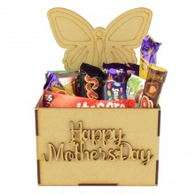 Laser Cut Mothers Day Hamper Treat Boxes - Butterfly