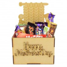 Laser Cut Mothers Day Hamper Treat Boxes - Knitting