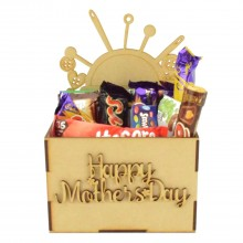 Laser Cut Mothers Day Hamper Treat Boxes - Sewing