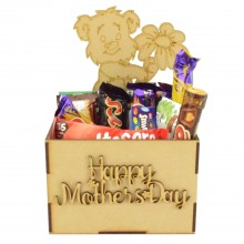 Laser Cut Mothers Day Hamper Treat Boxes - Teddy