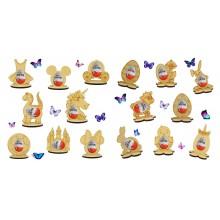 6mm Easter Kinder Egg Holder on a Stand - - Bargain Pack of 16 assorted shapes
