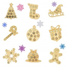 Christmas Coin Holders Sample Pack for Crafters - Bargain Pack of 9 Holders