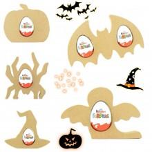 18mm Freestanding Halloween KINDER EGG Holders - Bargain Pack of 10 assorted shapes