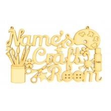 Laser Cut Personalised 'Craft Room' Sign