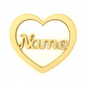 Laser Cut Personalised Place Setting - Heart Coaster