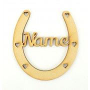 Laser Cut Personalised Small Horse Shoe - Single Name Only! - 100mm Size