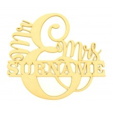 Personalised Mr & Mrs Design with Surname through the center