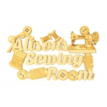 Laser Cut Personalised 'Sewing Room' Sign