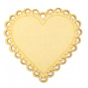 Laser Cut Scalloped Lace Detail Heart Plaque