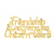 Laser Cut 'Friendship is as rare as Unicorn tears' Quote Sign
