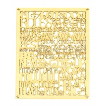 Laser Cut 'CLASSROOM RULES' Long Quote Sign