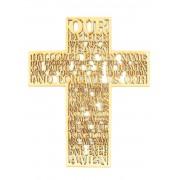 Laser Cut 'The Lords Prayer' Wording inside a Cross